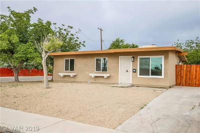 Clark County Single Family Home For Sale: 3193 Palmdale Street