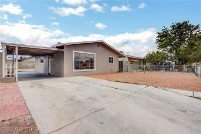 North Las Vegas Single Family Home For Sale: 3108 Tabor Avenue