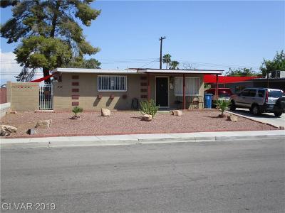 Las Vegas Single Family Home For Sale: 5100 Newton Drive