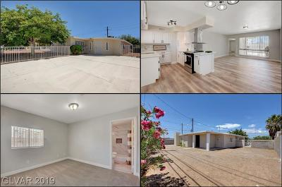 Las Vegas Single Family Home For Sale: 1900 H Street