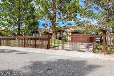 Las Vegas Single Family Home For Sale: 2210 Diamond Bar Drive
