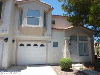 Centennial Hills Condo/Townhouse For Sale: 4053 Cape Sand Drive