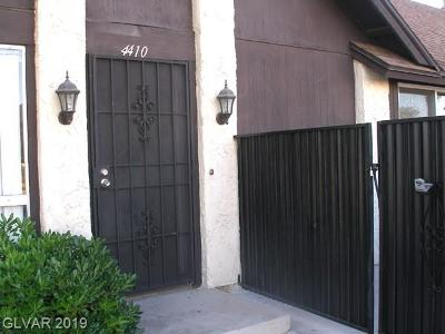 Las Vegas Condo/Townhouse For Sale: 4410 Del Oro Drive
