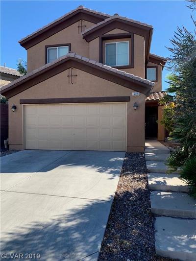 Las Vegas Single Family Home For Sale: 549 Redruth Drive