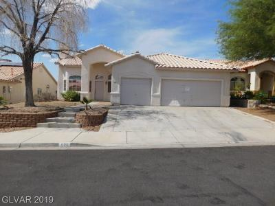 Henderson Single Family Home Under Contract - No Show: 926 Ashford Way