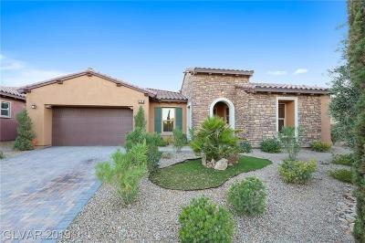 Henderson Single Family Home For Sale: 89 Contrada Fiore Drive