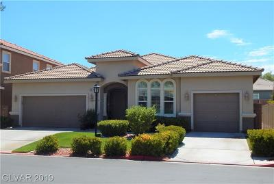 Las Vegas Single Family Home For Sale: 8071 Villa Cano Street