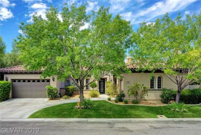 Las Vegas Single Family Home For Sale: 1405 Chambolle Court