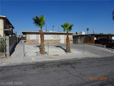 Las Vegas Multi Family Home For Sale: 715 North 11th Street