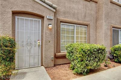 Las Vegas Condo/Townhouse For Sale: 2227 Sleepy Court