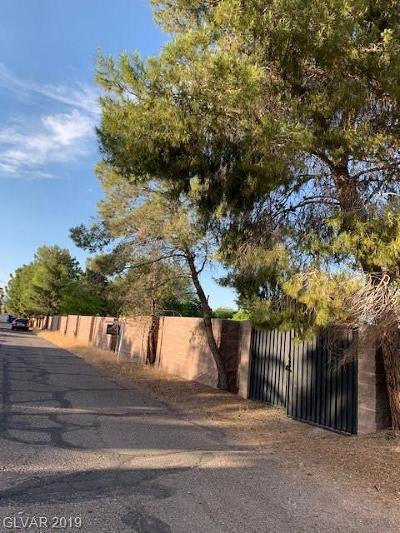 Las Vegas Residential Lots & Land For Sale: Robar Street Street