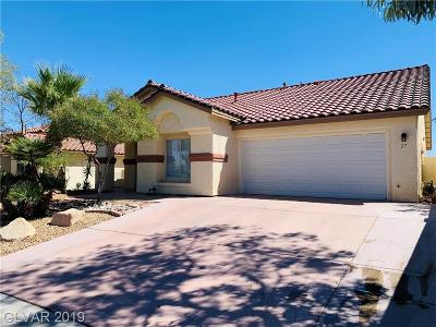 North Las Vegas Single Family Home For Sale: 27 Pinnacle Hill Court