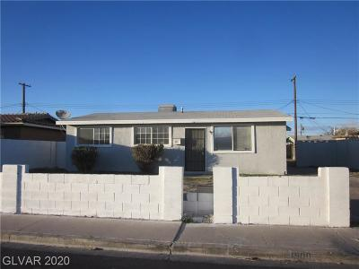 North Las Vegas Single Family Home For Sale: 1900 West Nelson Avenue