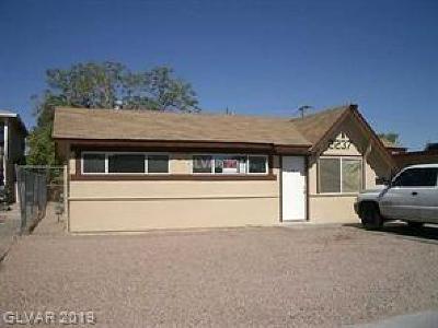 Las Vegas Multi Family Home For Sale: 2237 McCarran Street