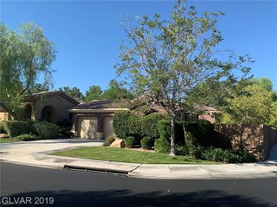 Las Vegas, Henderson Single Family Home For Sale: 117 Emerald Dunes Circle