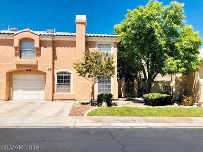 Centennial Hills Condo/Townhouse For Sale: 8440 Majestic View Avenue
