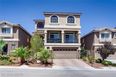 Las Vegas Single Family Home For Sale: 5966 Mendocino Hill Avenue