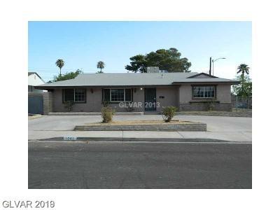 Las Vegas Single Family Home For Sale: 1741 Howard Avenue