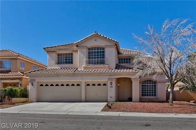 Las Vegas Single Family Home For Sale: 1713 Pink Cliff Court