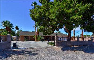Las Vegas Single Family Home For Sale: 5165 Harrison Drive