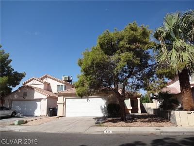 Las Vegas Single Family Home For Sale: 609 Weatherstone Drive