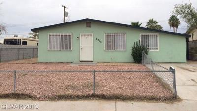 Las Vegas Single Family Home For Sale: 6309 Bourbon Way