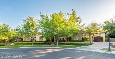 Henderson, Blue Diamond, Boulder City, Las Vegas, North Las Vegas, Pahrump Single Family Home For Sale: 19 Park Meadow Court
