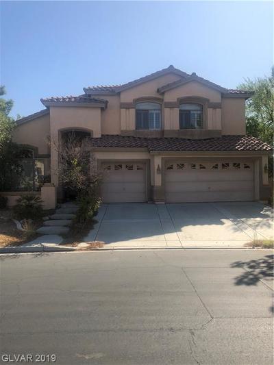 Las Vegas NV Single Family Home Under Contract - No Show: $500,000