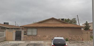 North Las Vegas Multi Family Home For Sale: 2553 Belmont Street