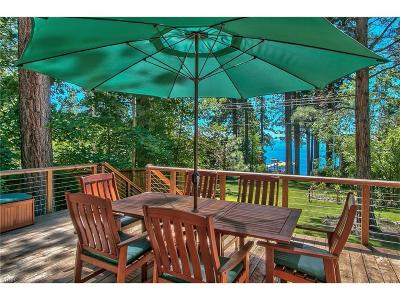 Incline Village Single Family Home For Sale: 831 Lakeshore Boulevard