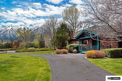 Gardnerville Single Family Home Active/Pending-House: 254 Beverly
