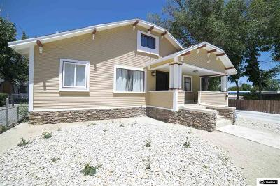 Washoe County Single Family Home Extended: 123/125 Caliente St