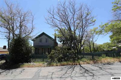 Virginia City Single Family Home Active/Pending-Loan: 50 E Sheldon