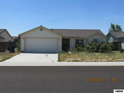 Fernley Single Family Home Active/Pending-Short Sale: 225 Jenny's Ln