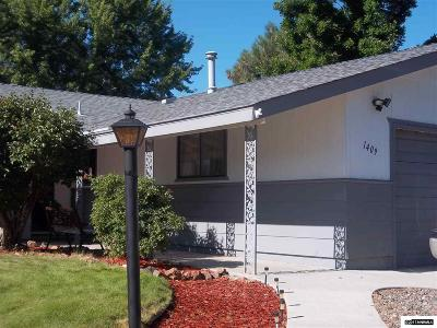 Carson City Single Family Home For Sale: 1409 Fremont