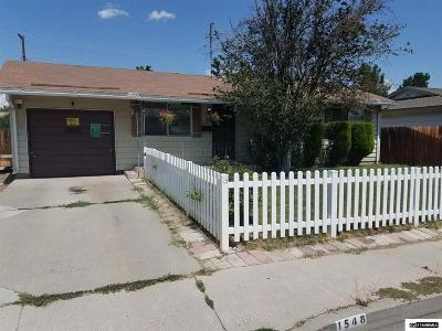 Sparks Single Family Home Active/Pending-Loan: 1548 Greenbrae Dr