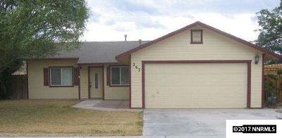 Fernley Single Family Home For Sale: 263 Wildwood Street
