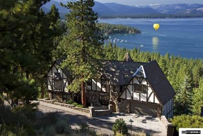Zephyr Cove NV Single Family Home For Sale: $3,200,000