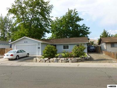 Carson City County Single Family Home For Sale: 216 E Hampton