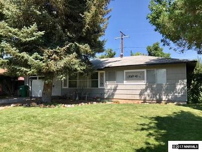 Carson City Single Family Home Active/Pending-Loan: 1208 Beverly Way