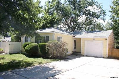 Washoe County Single Family Home Active/Pending-Call: 1870 Bonneville Ave