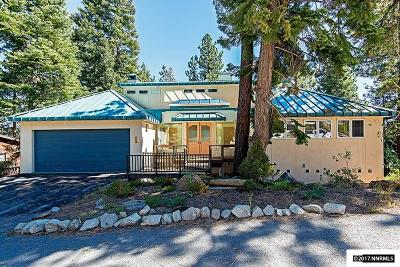Incline Village Single Family Home For Sale: 609 Dorothy Ct