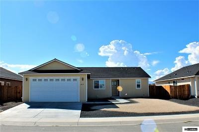 Fernley Single Family Home Active/Pending-Loan: 1854 Westward