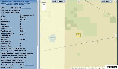 Reno Residential Lots & Land For Sale: Apn 07416145