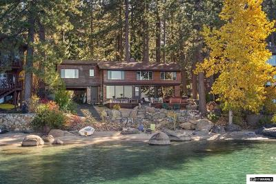 Zephyr Cove NV Single Family Home For Sale: $3,900,000