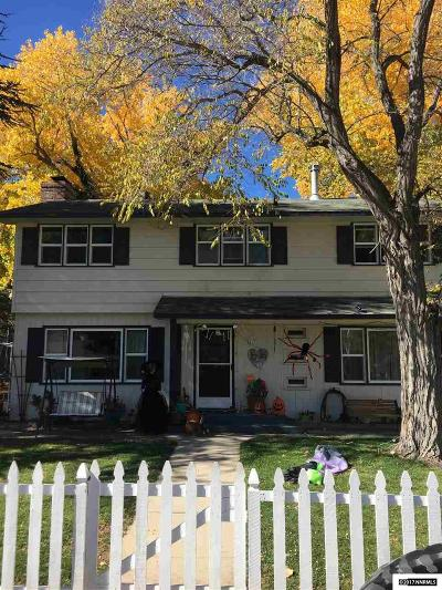 Carson City Single Family Home For Sale: 510 Mary St