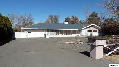 Washoe County Single Family Home Active/Pending-Call: 3165 W Hidden Valley