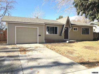 Washoe County Single Family Home For Sale: 1055 Goldfield St