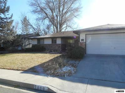 Carson City Single Family Home Active/Pending-Call: 1509 Pinto Court