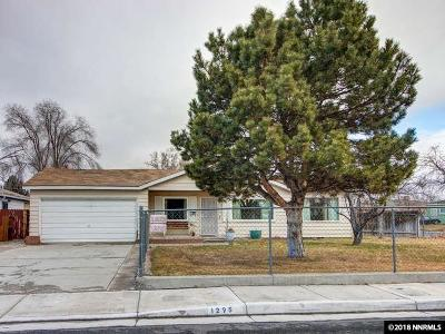 Reno Single Family Home Active/Pending-Loan: 1295 Grand Canyon Blvd